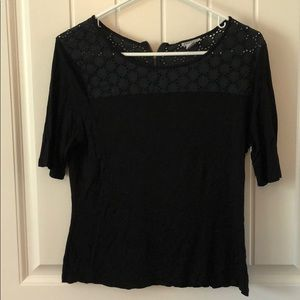Women's Size L DKNY Shirt w/ Zip-back